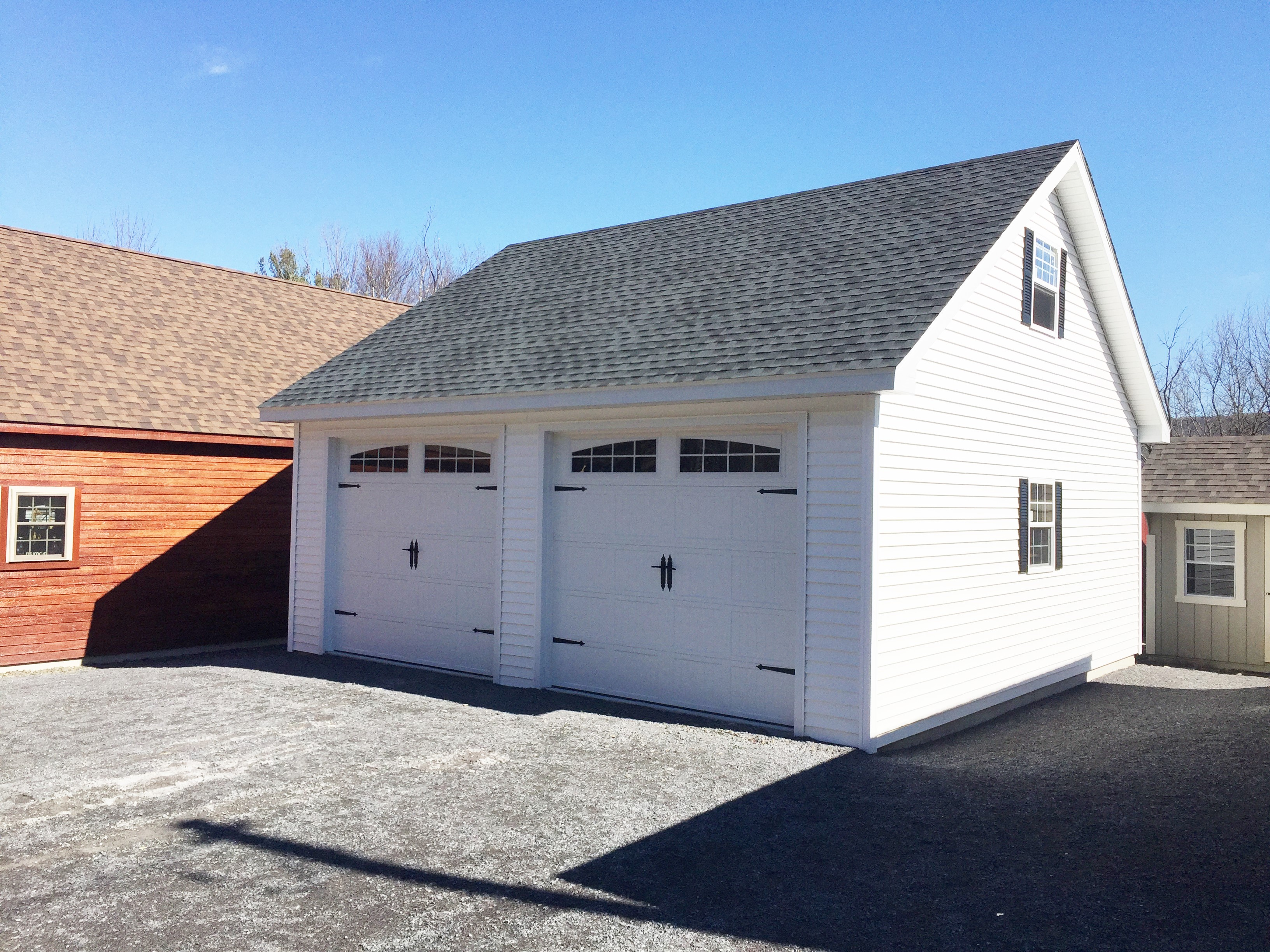Car Being Built Garage : Built on site custom amish garages in oneonta ny