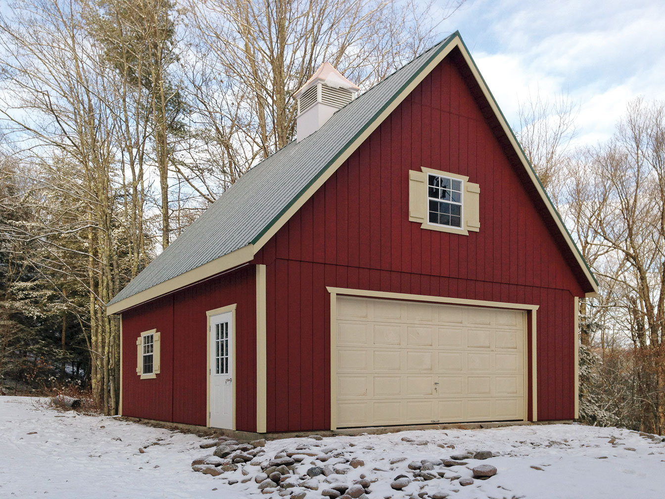 Amish Made Garage : Built on site custom amish garages in oneonta ny
