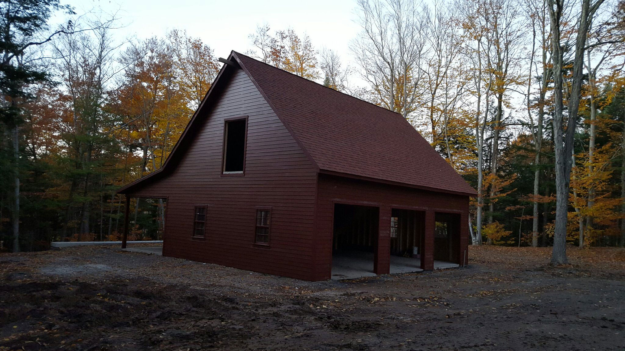 Amish Built Attic Car Garage With Loft Space: Built On-Site Custom Amish Garages In Oneonta, NY