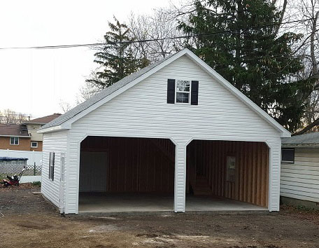 Built On Site Custom Amish Garages In Oneonta Ny Amish