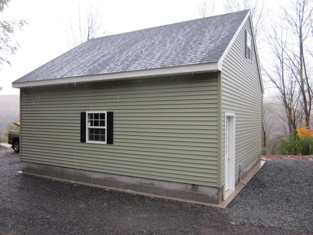Garden Sheds Rochester Ny built on-site custom amish garages in oneonta, ny | amish barn company