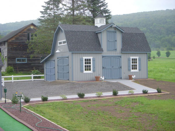 Built On Site Custom Amish Garages In Oneonta Ny: Amish Barn Construction & Woodwork In Oneonta, NY