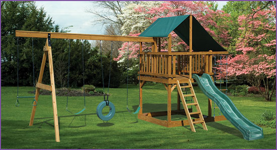 Eagles Nest II Swing Set