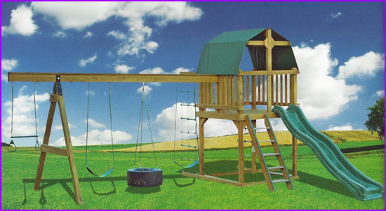 Single Loft Swing Set