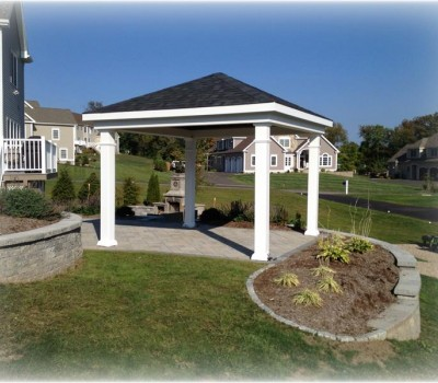 12x12 Pavilion with Square Columns Vinyl