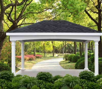 Classic Pavilion with Arched Header