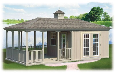 Amish Poolhouse with Patio