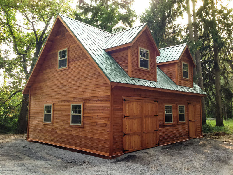 Amish barn construction woodwork in oneonta ny amish for Two story garages for sale