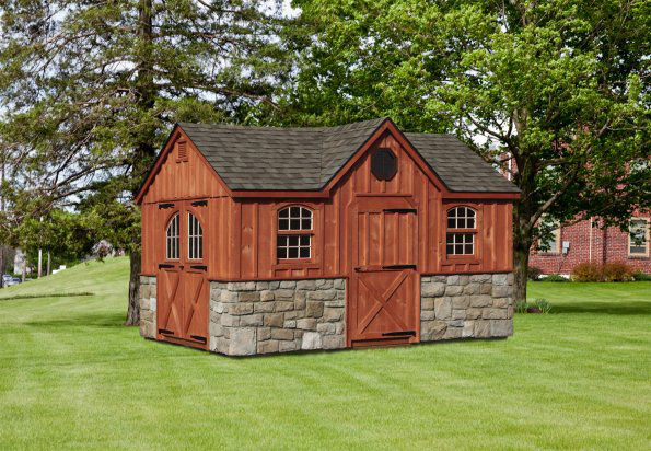 Custom Amish Backyard Wood Sheds For Sale In Oneonta Ny