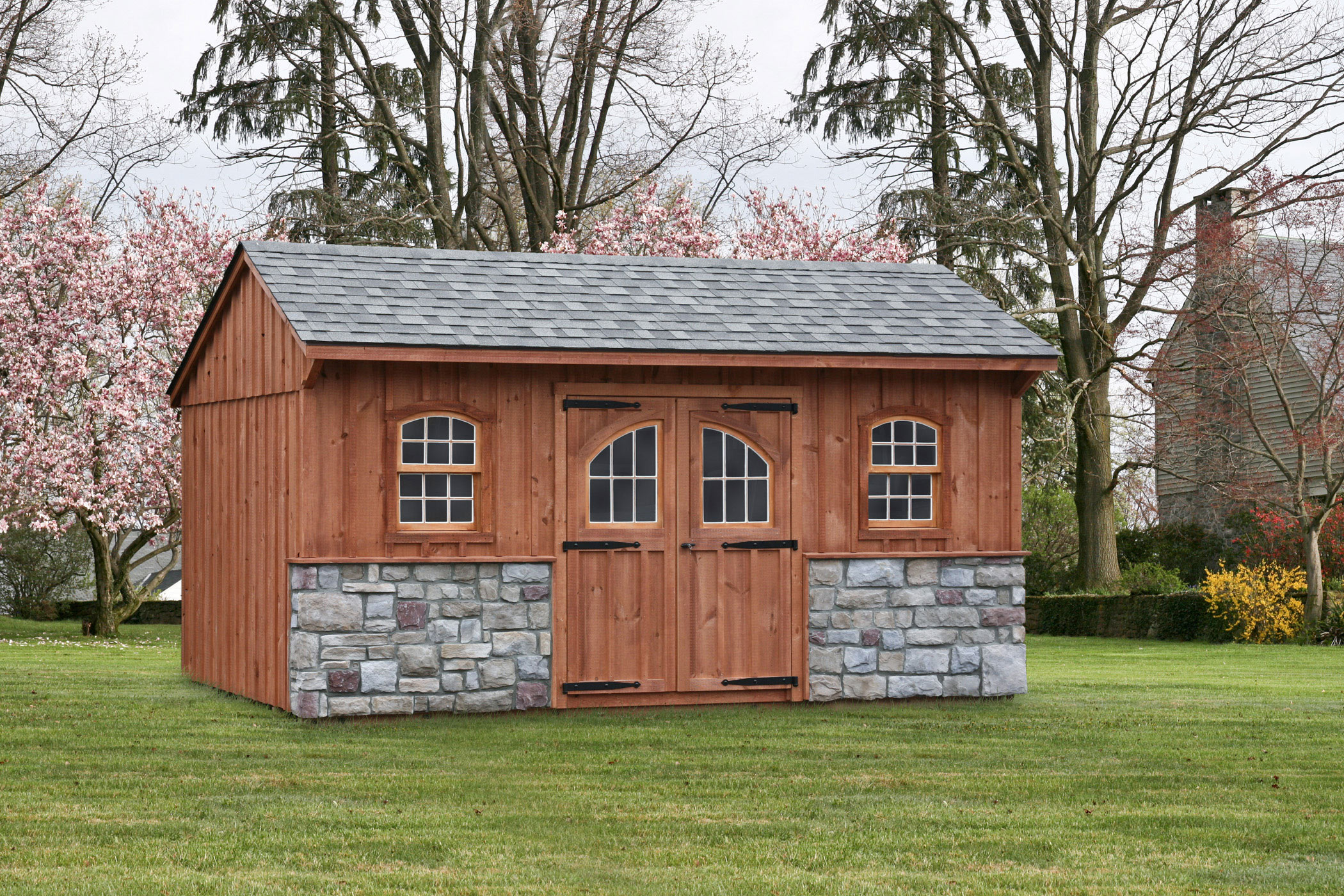 Custom amish backyard wood sheds for sale in oneonta ny for Board and batten shed plans