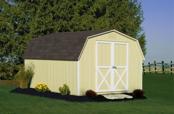 10x12 4' Wall Barn Beige