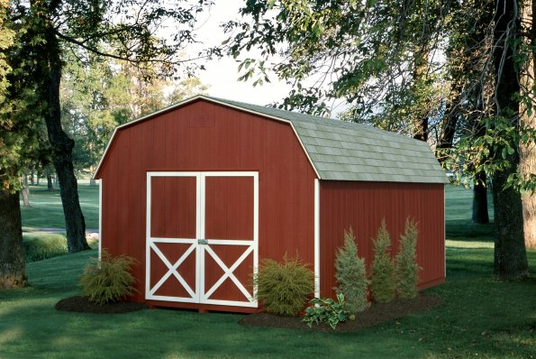 12x20 6' Wall Barn Red