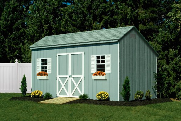 12x20 Carraige Barn Light Gray