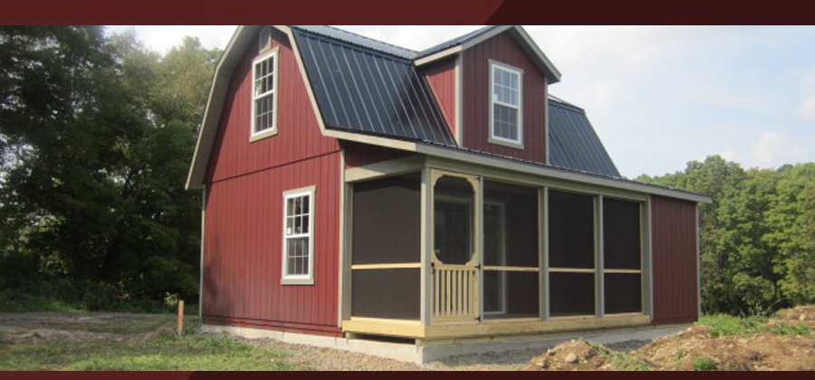 Red Sided Amish Housing Shell