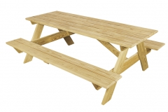 6ft6 tabel with attached benches