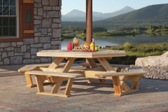 Amish Octagon Wood Picnic Tables