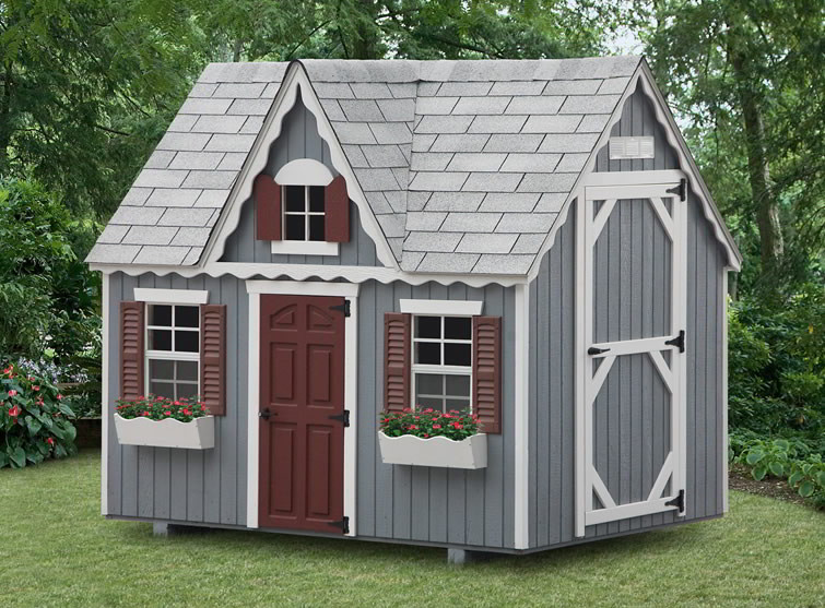 Amish playhouses wood playgrounds for sale in oneonta for Victorian playhouse