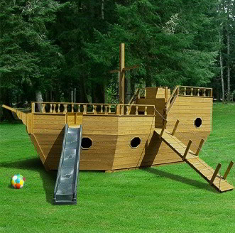 Amish Pirate Ship Play Set