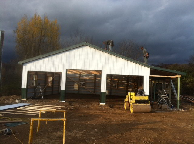 Built On Site Custom Amish Garages In Oneonta Ny: Oneonta NY Amish Garages & Pole Barns Built On Site