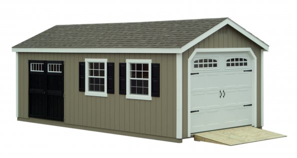 inch single nj upgraded siding md vinyl builders modular garage built garages overhang amish wood on features x site