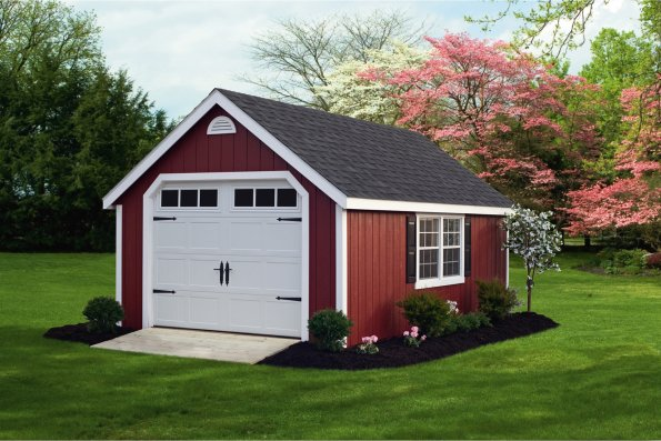 Classic Wood Garage red_595