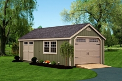 Built on Site Amish Garages Oneonta NY