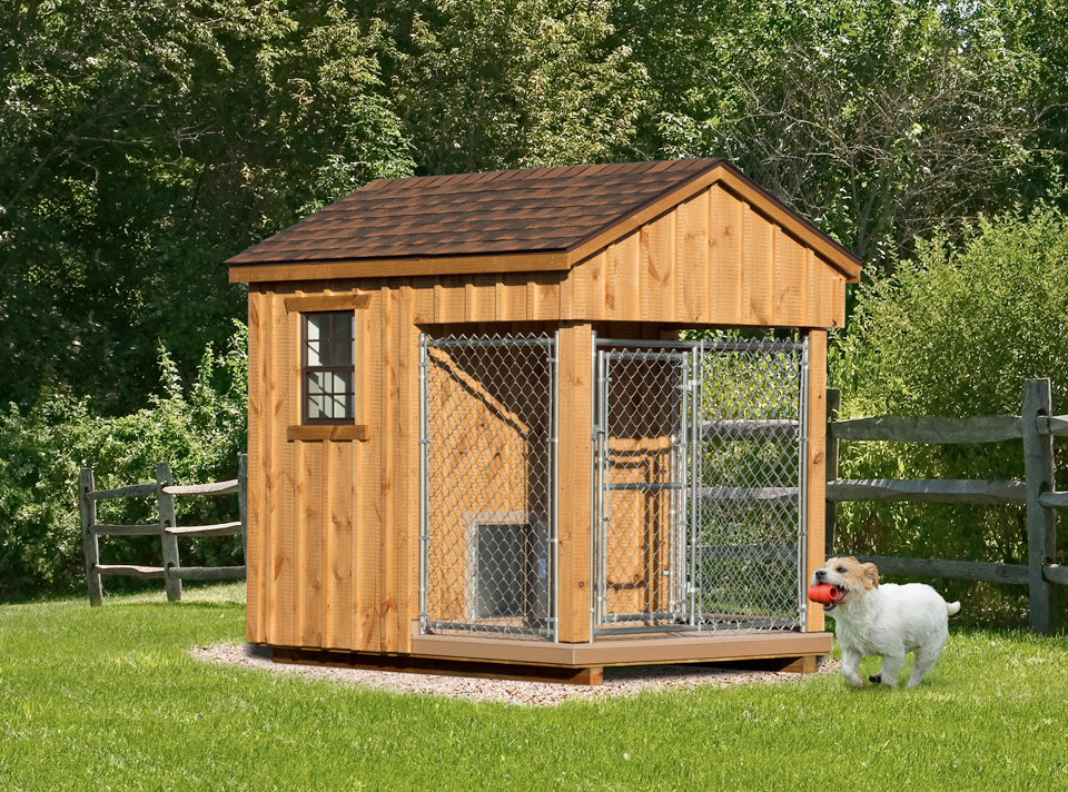 Wooden Amish Dog House