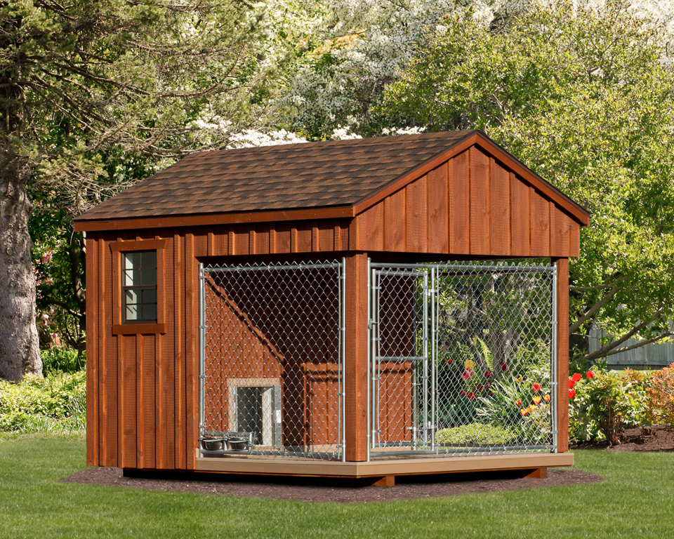 Custom Wood Amish Dog Kennel