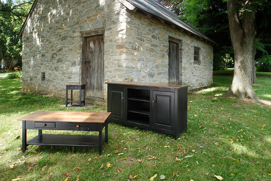 Amish Wood Table & Stand Oneonta NY