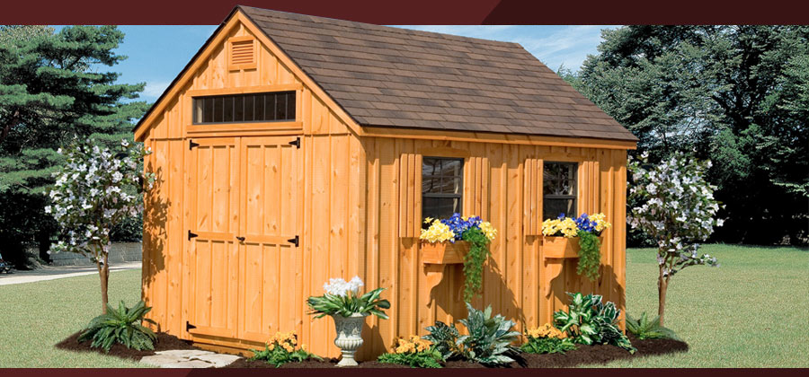 Built On Site Custom Amish Garages In Oneonta Ny: Custom Amish Backyard Wood Sheds For Sale In Oneonta, NY