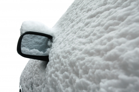 Winter Snow Covered Car