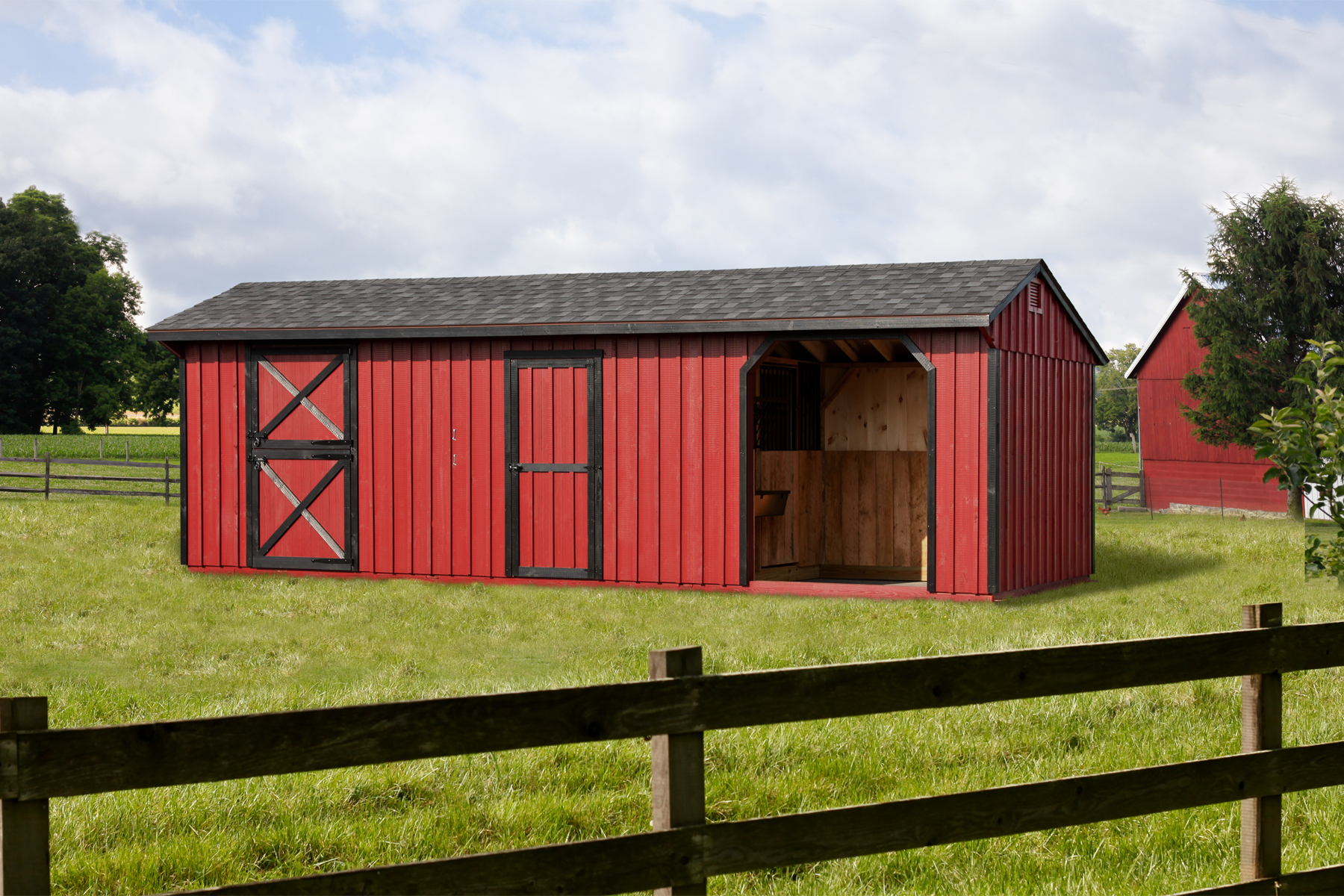 amish haus portfolio item with horse the barn porch x shed barns